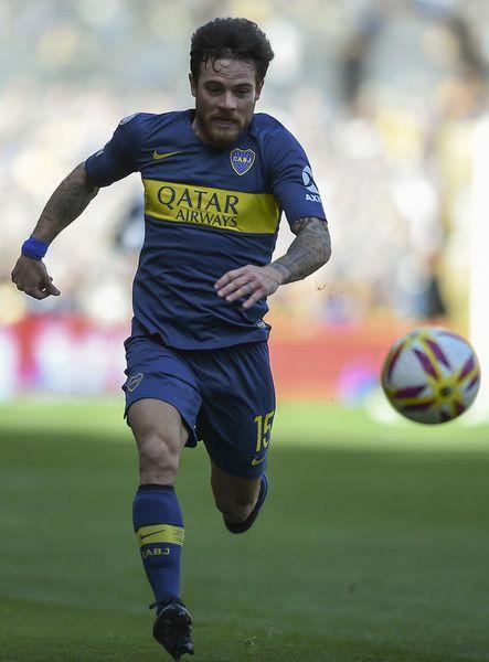 Nahitan Nandez of Boca Juniors runs for the ball during a match between  Boca Juniors and Talleres as part of Superliga Argentina 2018 19 at Estadio  Alberto ... ba86fde72385b
