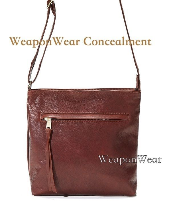 Coronado Leather Monterey Crossbody Locking Concealed Carry Concealment Purse