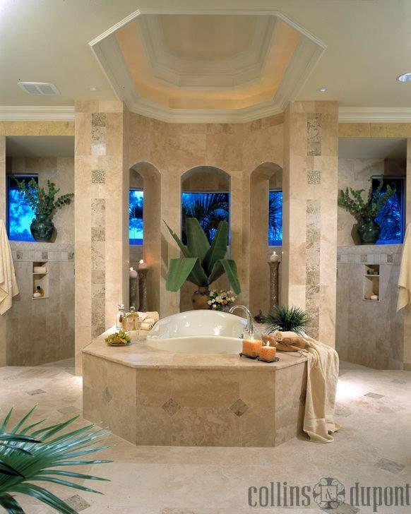 Master Bathroom Walk Around Tub Walk Thru Shower