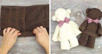 Deze beren maak je met een simpele handdoek en zijn een leuke touch voor in je badkamer!