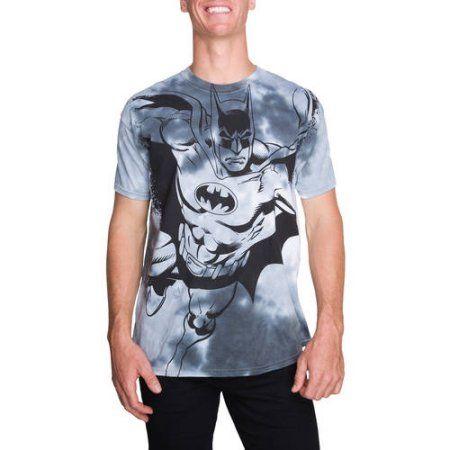 Big Men's Short Sleeve DC Batman Tie Dye Graphic T-Shirt, Size: 3XL