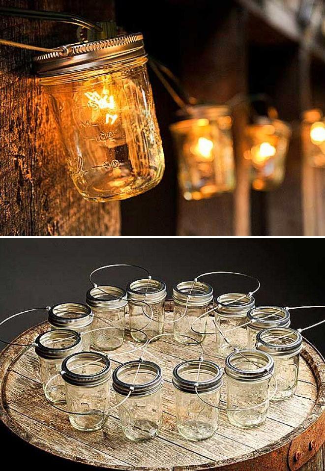 DIY idea :: Mason Jar Lights