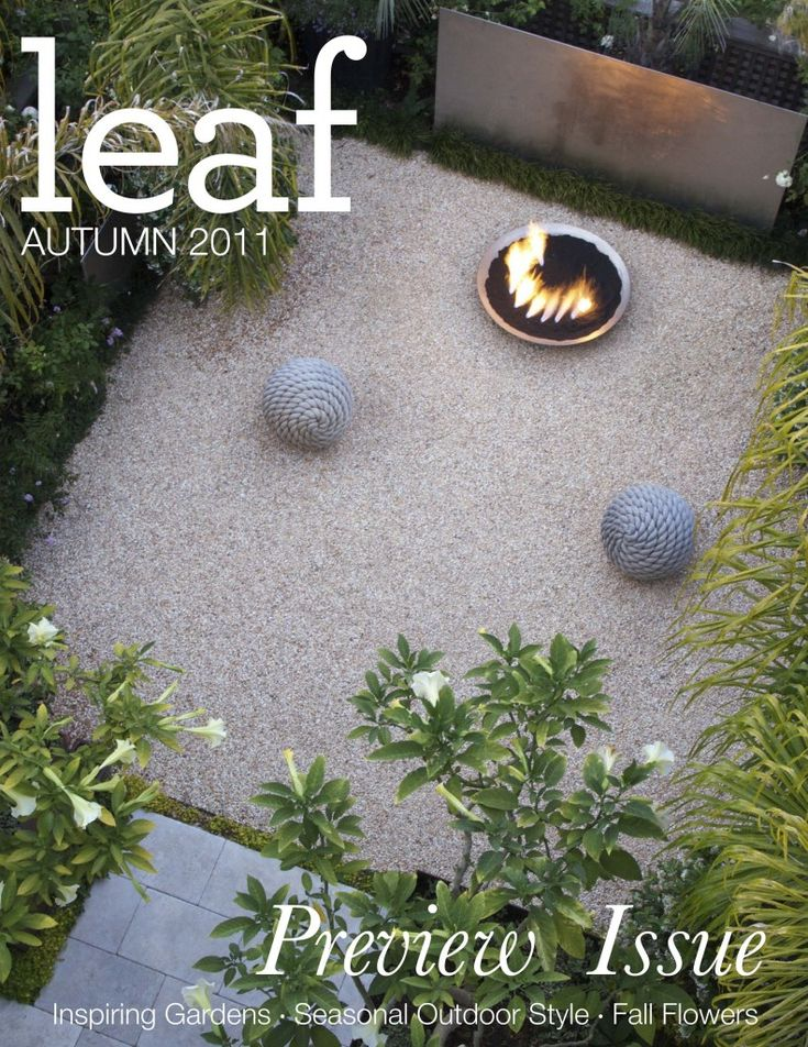 Leaf Magazine preview issue cover featuring a garden designed by Topher Delaney and photographed by Saxon Holt.