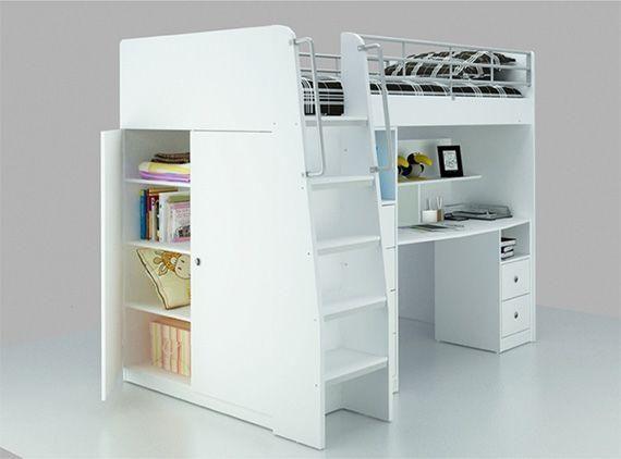 King Single Beds With Desk : Loft bed with desk king single ella s room