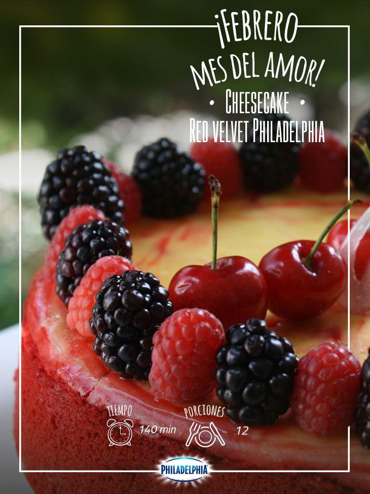 Sorprende a tu amorcito con este postre increíble: Cheesecake red velvet Philadelphia.