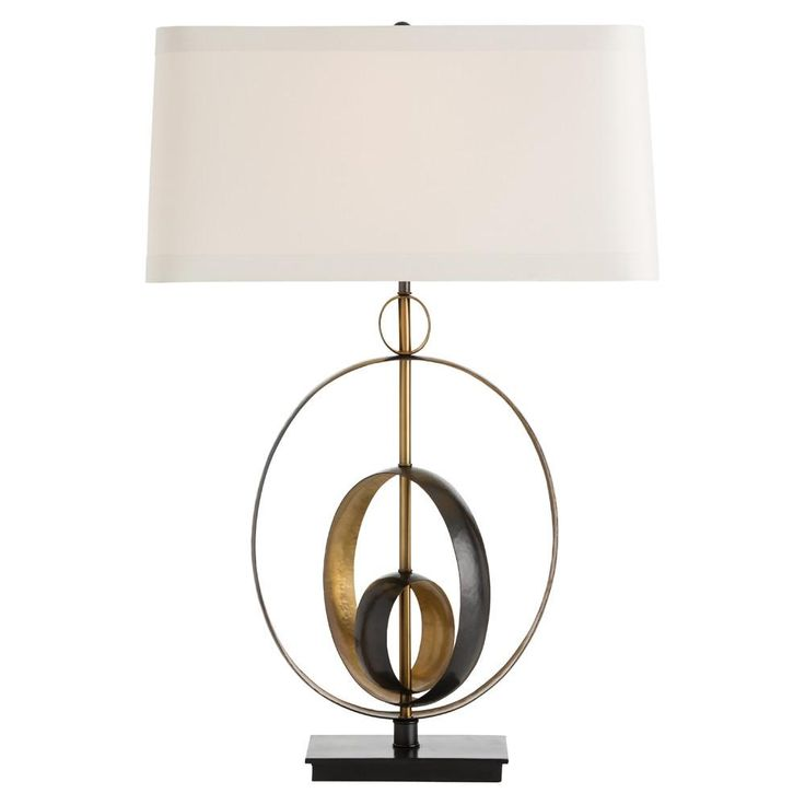 Gold & Black Circular Lamp
