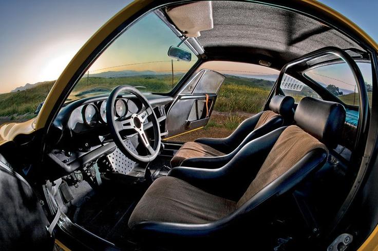 1967 911r replica  bare interior