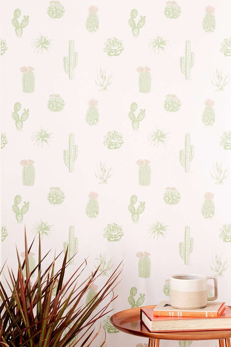Cactus Icon Removable Wallpaper - Urban Outfitters