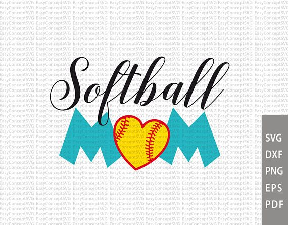 Softball MaM Dxf Silhouette EPS PNG Cut File svg file