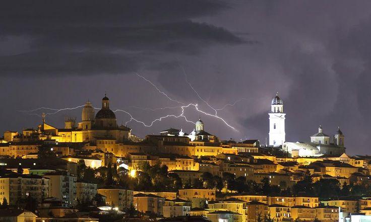 Tempesta su Macerata
