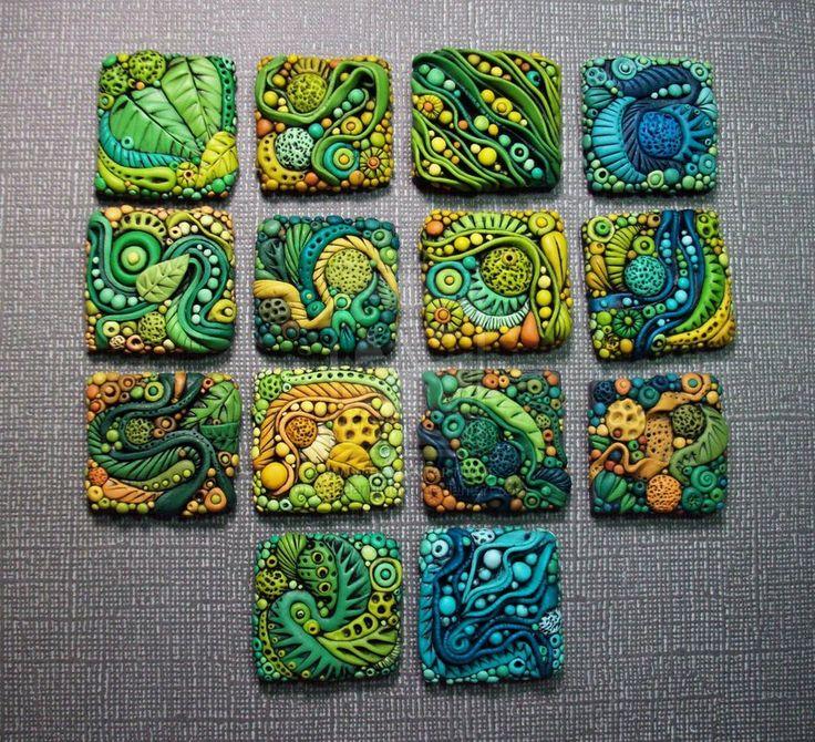 Textured Polymer Clay Inchies by *MandarinMoon on deviantART