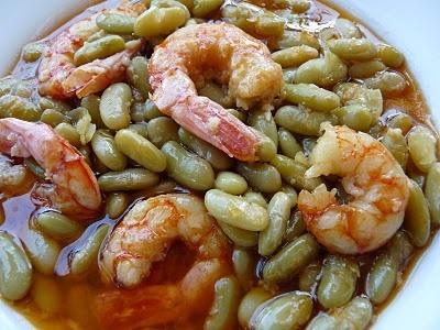 La cocina de Piescu: Fabas verdinas con langostinos
