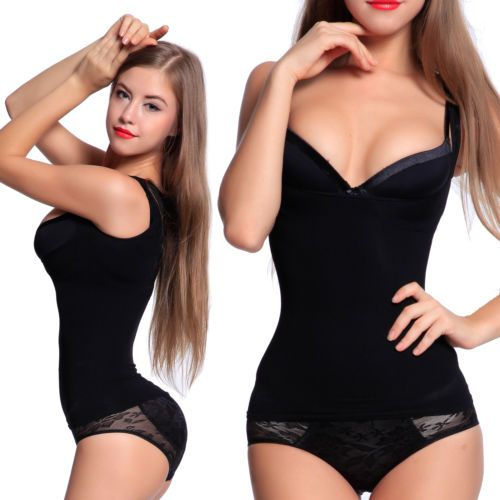 Seamless Body Shaper Tummy Tucker Vest Slimming Cami Tank Top Shaping Camisole in Clothes, Shoes & Accessories, Women's Clothing, Lingerie & Nightwear   eBay