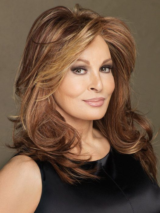 Multidimensional warm russet tones - warm brow base with dark blonde highlights: Hairs Brown, Hairs Idea, Brown Medium, Brazilian Hairs, Hairs Color, Blondes Highlights, Full Lace, Raquel Welch, Lace Front Wigs