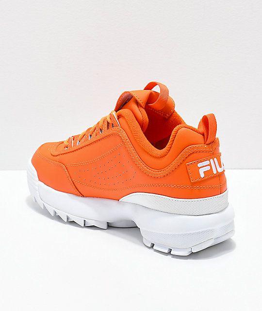cb29566b6cf FILA Disruptor II Orange Shoes in 2019