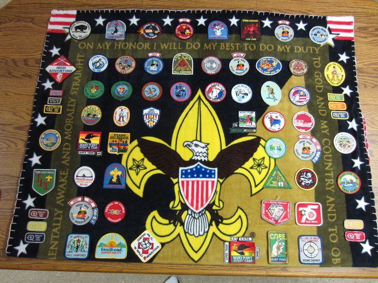 Boy Scout Patch Blanket