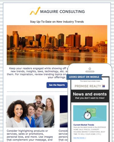 Newsletter Templates from Constant Contact