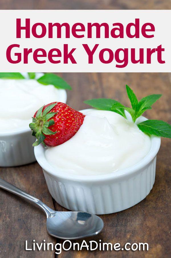 Homemade Greek Yogurt Recipe - How to Make Greek Yogurt