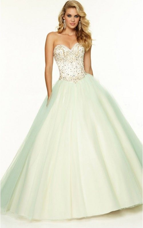 Tulle Ball Gown Sweetheart Floor-length Prom Dresses