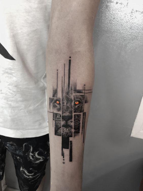 Attraktives Lion Tattoo Design für Herren – Tattoo – #A …   – Tatowierung
