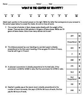 direct variation practice worksheet riddle fun math middle school riddles. Black Bedroom Furniture Sets. Home Design Ideas