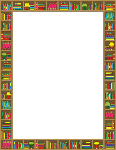 Printable reading border. Free GIF, JPG, PDF, and PNG downloads at http://pageborders.org/download/reading-border/