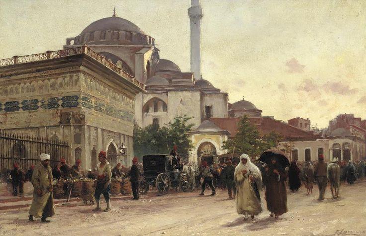 Tophane-The Tophane Fountain and Kılıç Ali Pasha Mosque, Fausto Zonaro
