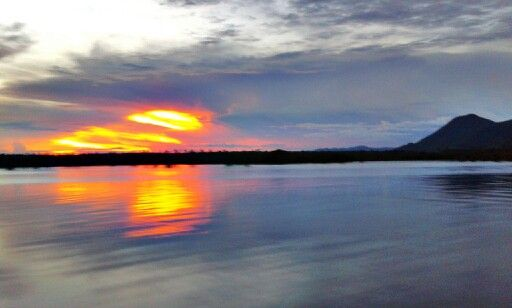 Sunset at Danau Sentarum National Park, Kalimantan, Indonesia