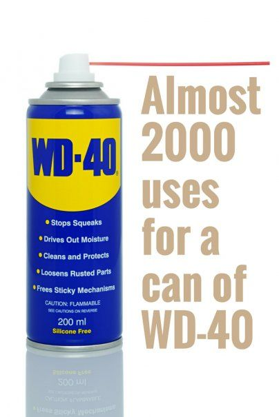 'Almost 2000 uses for a can of WD-40...!' (via Wise Bread)