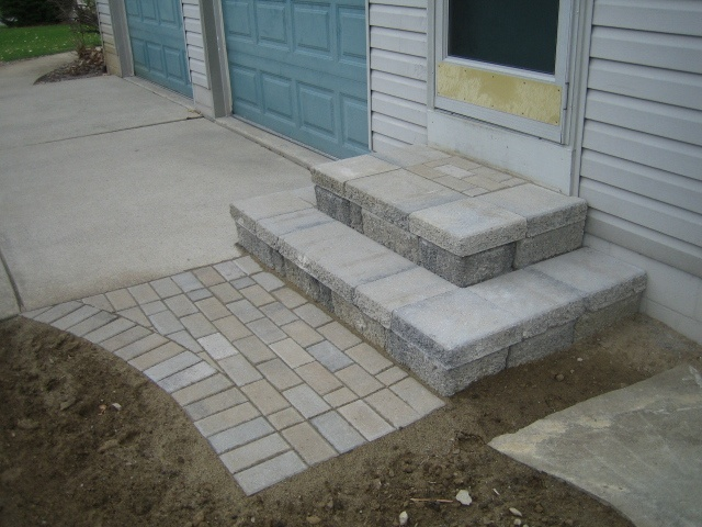 Paver Stairs How To Build...only BIGGER!