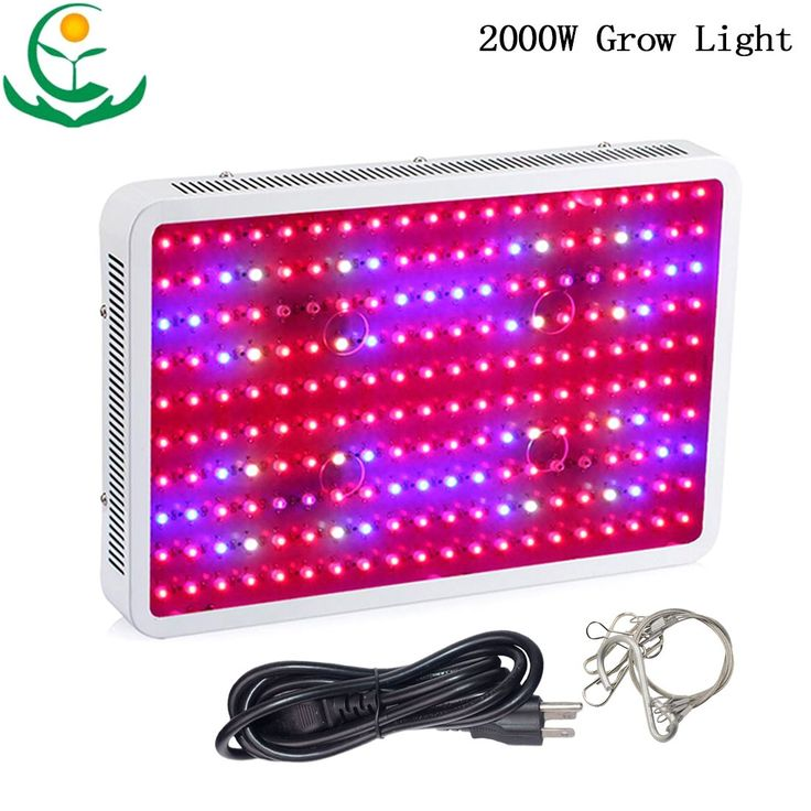 TOPL 2000W Full Spectrum LED Grow Light Bulb 200X10W Double Chip with Better Radiator Fans - Best of all Plant Lights for Indoor Plant Flowering Growing and Medicinal Plants