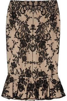 Alexander McQueen. love the trumpet shape style of this skirt!: Alexander Mcqueen, Silk Skirt, Fashion, Fluted Lace, Mcqueen Fluted, Style, Skirts, Dress