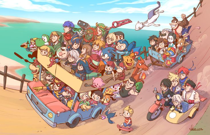 "I made something for fun and ended up raging. It's called ""Road Trip"". DLC characters were an afterthought."