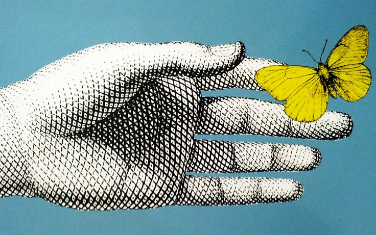 illustration of hand by Fornasetti
