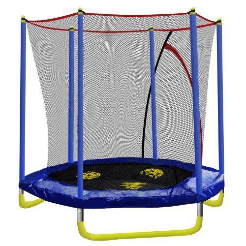 skywalker trampolines hexagon animal adventure interactive trampoline with enclosure 7feet