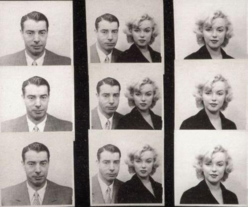 Photobooth Photos: Marilyn Monroe & Joe DiMaggio