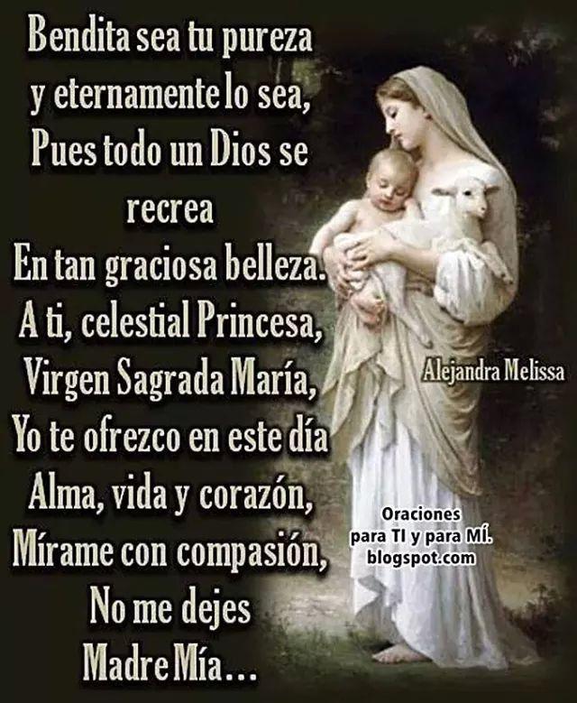 Oracion a la Virgen Maria.