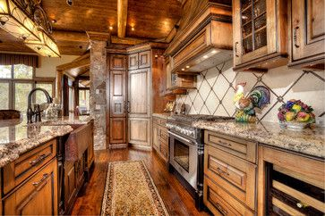 411 Long Ridge - rustic - Kitchen - Pinnacle Mountain Homes