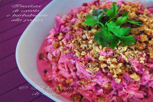 Σαλατα λαχανο με παντζαρι και σως γιαουρτιου της Μαρινας Μαυροματη