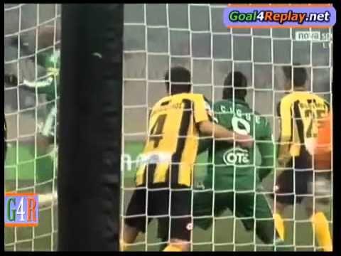 Panathinaikos-Ergotelis 2-0(29-1-2011)first goal gilberto silva