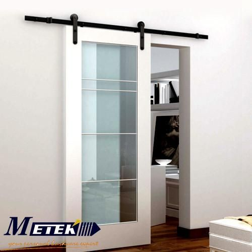 Door Type: PolymerModel Number: MTK-A04Open Style: SlidingCharge Unit: SetSliding Door Type: Partition DoorsOpening Method: Side OpeningBrand Name: barndoorSurface Finishing: FinishedPosition: InteriorMain Material: SteelType: Sliding DoorsFrame Material: PolymerDoor Material: Wood,MDF,plywood,compositeload-bearing: 175kgbar: 2mwood door thickness: 40-45mmwood door width: less than 1 m