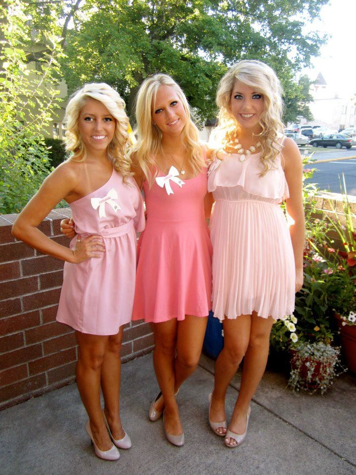pink dresses! Recruitment?