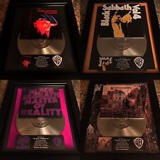 4 RARE Black Sabbath Platinum Record Disc Album Music Award RIAA  Ozzy Osbourne