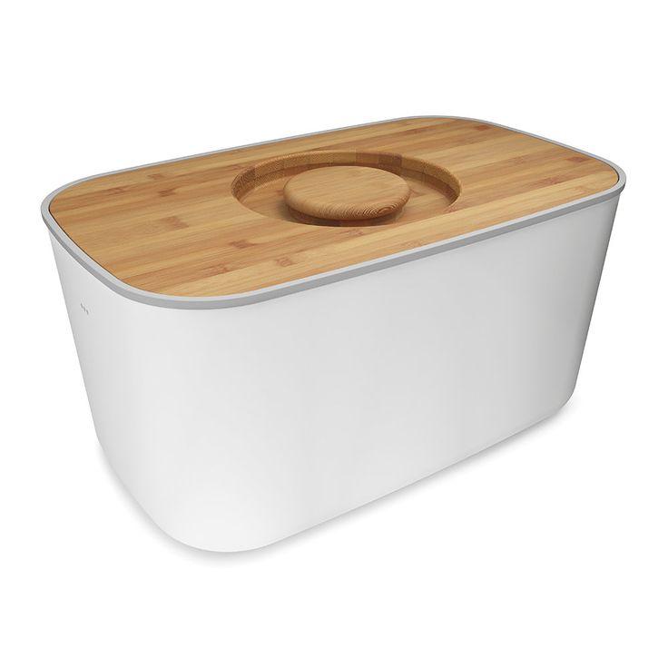 Discover the Joseph Joseph Steel Bread Bin - White at Amara