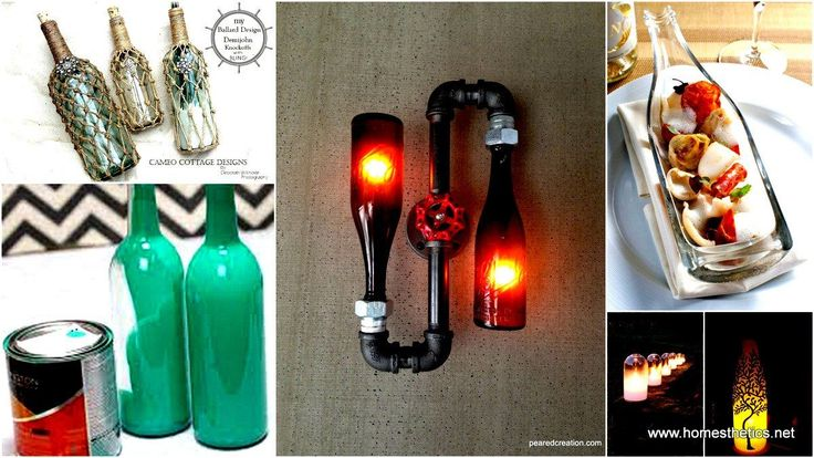 44 Simple DIY Wine Bottles Crafts and Ideas on How To Cut Glass Bottles | Cool DIY Crafts with Wine Bottles