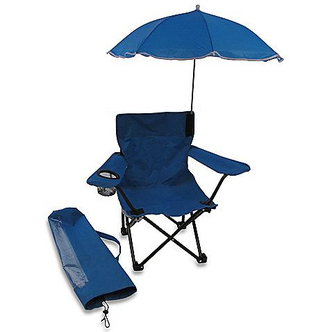 Kids Camp Chair With Umbrella In Blue. Add Monogram Or Name To Personalize.  Htv