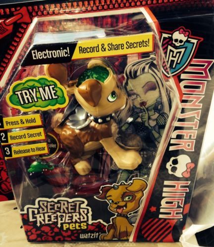 monster high secret creepers pets watzit new and just
