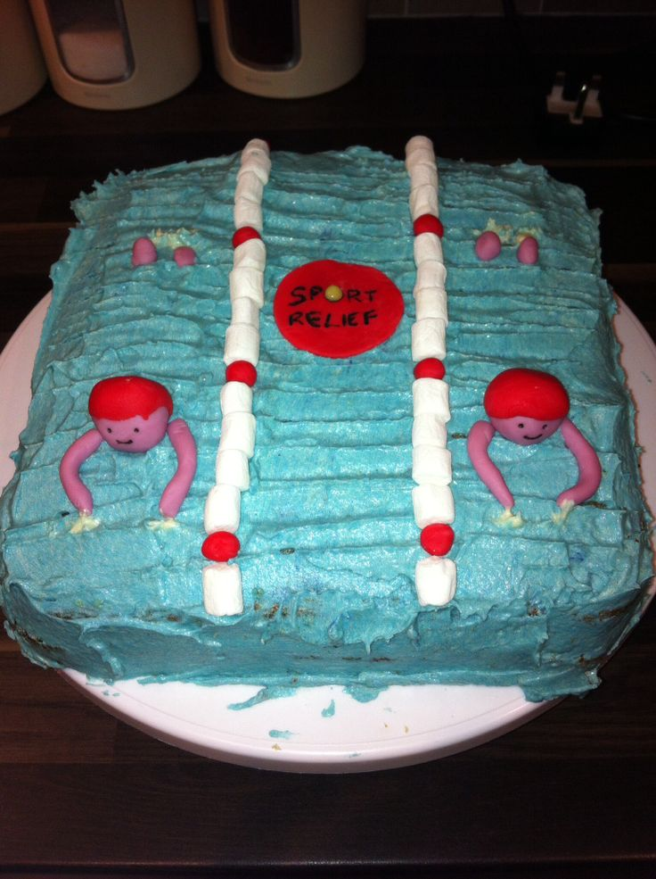 Sport relief cake