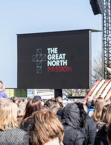 Great North Passion broadcast live on Good Friday from Bents Park, South Shields South Tyneside.