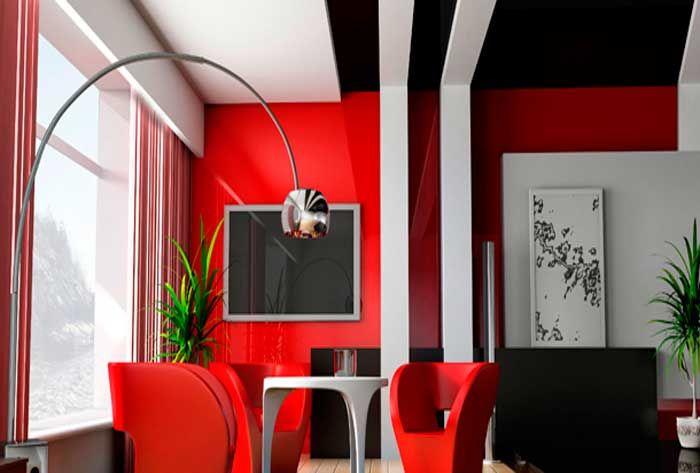Decoraciones en blanco rojo y negro bellisima negro - Decoraciones de comedores ...